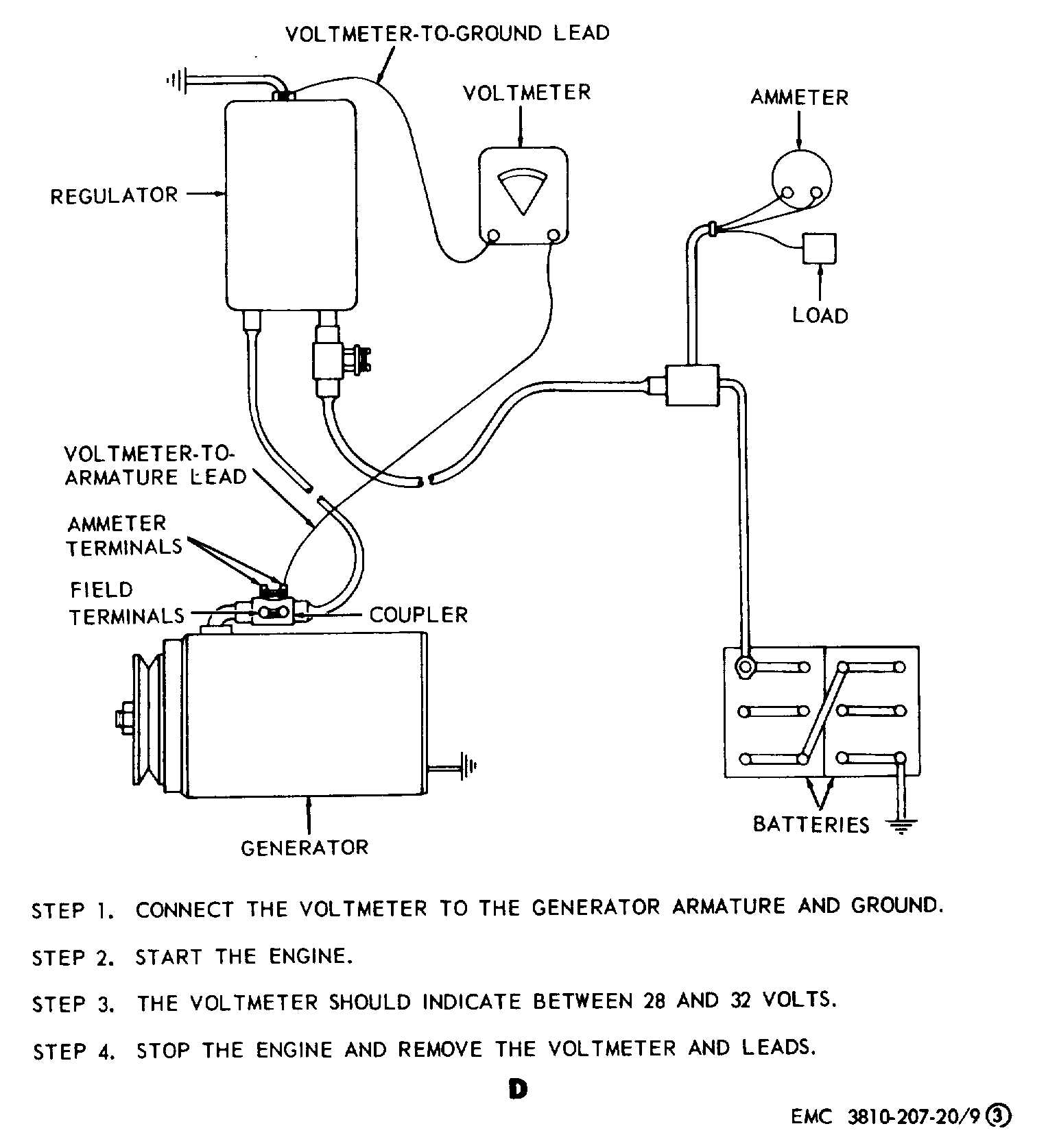 Generator regulator removal adjustment and test wiring diagram - cont - TM-5-3810-207-20_65