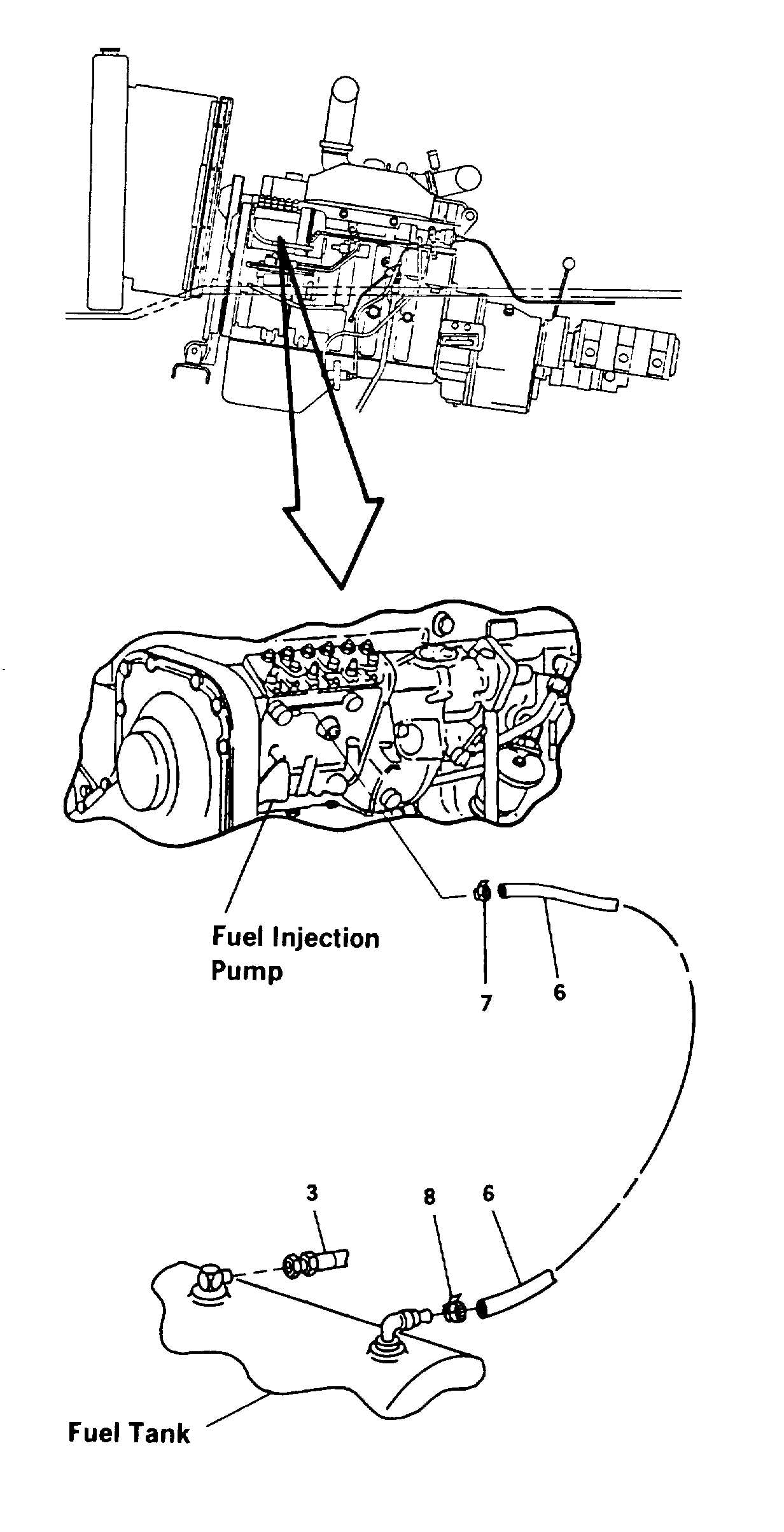 fuel supply and return lines replacement